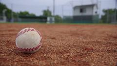 Baseball in the Infield Stock Footage