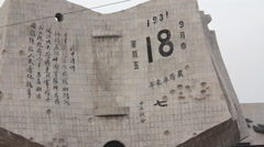Sino-Japanese War Memorial, Shenyang, China Stock Footage