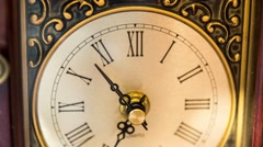 Stock Video Footage of Timelapse of an old clock hands rotating