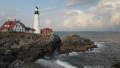 Portland Head Light, Cape Elizabeth, Maine Stock Footage