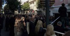 Acto Atentado Amia terrorist attack memorial Argentina sidestage shot 2015 Stock Footage