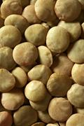 Lentils macro crop texture in brown color Stock Photos