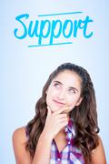 Stock Photo of Support against blue vignette background