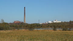 Vale Inco Copper Cliff Nickel refinery. Stock Footage