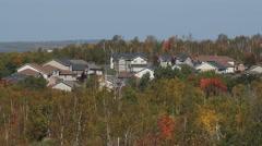 Subdivision in Sudbury, Ontario, Canada. Stock Footage