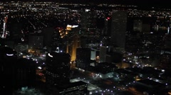Aerial Over Streets of New Orleans Night - stock footage