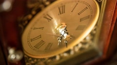 Timelapse of an old clocks hands rotating Stock Footage