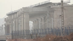 Chinese construction, highway bridge Stock Footage