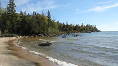 Catherine Cove. Lake Superior. Stock Footage