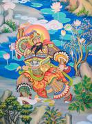 Stock Photo of Chinese mural painting art