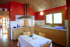 Kitchen with barrel vault ceeling Stock Photos