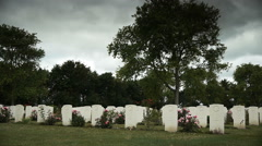 Canadian memorial cemetery in France Stock Footage