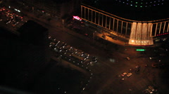 Chinese city traffic at night, Shenyang Stock Footage