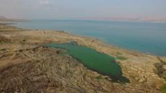 4K Aerial of the Dead Sea, Israel Stock Footage