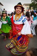 Inti Raymi celebration in Cayambe, Ecuador - stock photo