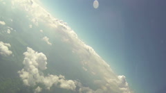 Fly through clouds Stock Footage
