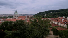 Prague view from the Castle 4 - stock footage