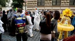 Prague Street Parade 2 - stock footage