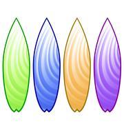Surfboards Stock Illustration