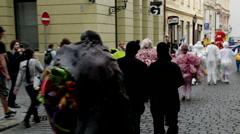 Prague Street Parade 4 - stock footage
