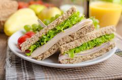 Back to school sandwich Stock Photos