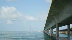 Under the Seven Mile Bridge Stock Footage