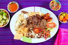 Arrachera beef flank steak Mexican dish chili - stock photo