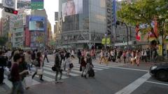 Timelapse - Pedestrian crossing in Shibuya, Tokyo Stock Footage