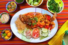 Veracruzana style grouper fish mexican seafood chili - stock photo