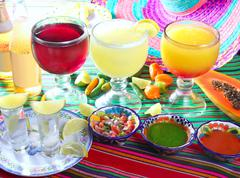 margarita sex on the beach cocktail beer tequila - stock photo