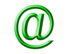 Arobase AT email symbol illustration - stock photo