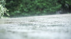 Raindrops close up Stock Footage