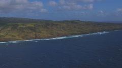 Hawaiian Coastline Stock Footage