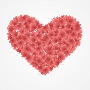 Red heart isolated on white Background. Vector Illustration Stock Illustration