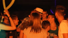 Teenage Clubbing Crowd party strobe light 03 Stock Footage
