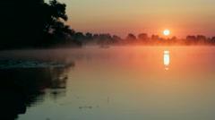 Sunrise on the lake Stock Footage