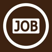 Stock Illustration of Job flat white color rounded vector icon