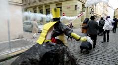 Prague Street Parade 5 Stock Footage