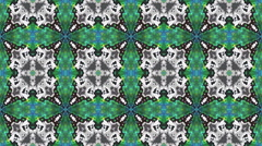 Kaleidoscopic generated seamless loop video 960x540 Stock Footage