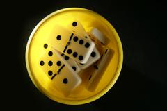 Domino game business metaphor - stock photo