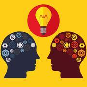 Illustration Vector Graphic Creativity and Ideas - stock illustration