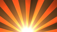 retro sun rays abstract background - stock footage