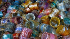 Colorful Merchandise at an Indian Shop in Singapore Stock Footage