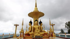 Time lapse Buddha Doi Muser Omkoi Chiang Mai, Thailand. - stock footage