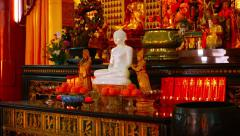 Intricately Ornamented Interior of Thean Hou Temple in Kuala Lumpur, Malaysia Stock Footage