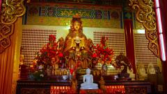 Statue of the Godess Mazu, inside Thean Hou Temple in Kuala Lumpur, Malaysia Stock Footage