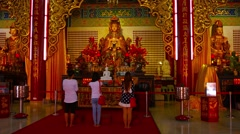 Inside the Main Prayer Hall of Thean Hou Temple Stock Footage