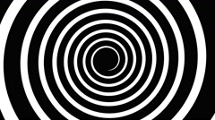 Hypnotic spiral black and white Stock Footage
