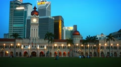 Sultan Abdul Samad Building, with Contemporary Commercial Office Buildings Stock Footage