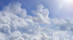 flying over clouds - stock footage